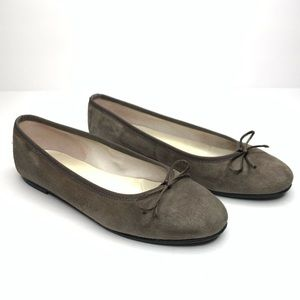 AB Donkers Suede Ballet Flats Gray Size 8